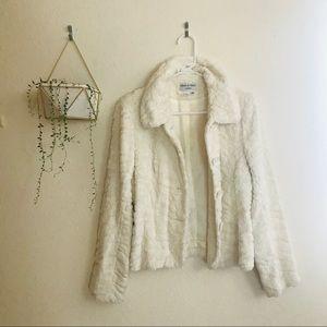 Charles Gray London Faux Fur Zebra White Jacket